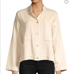 Eileen fisher cotton jacket, beige, Xs - XL